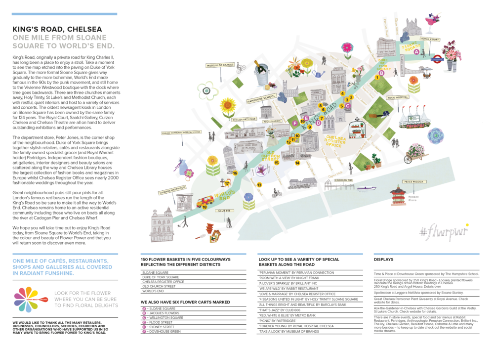 Map — King's Road, Chelsea Chelsea Galleries Map on