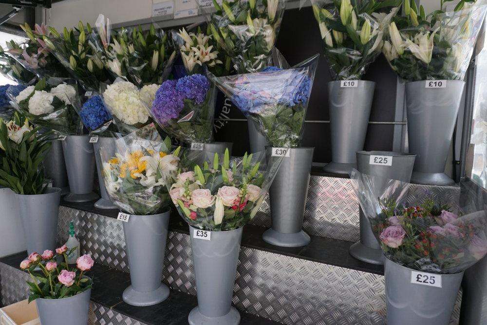 Sloane Square flowers on Flood Street