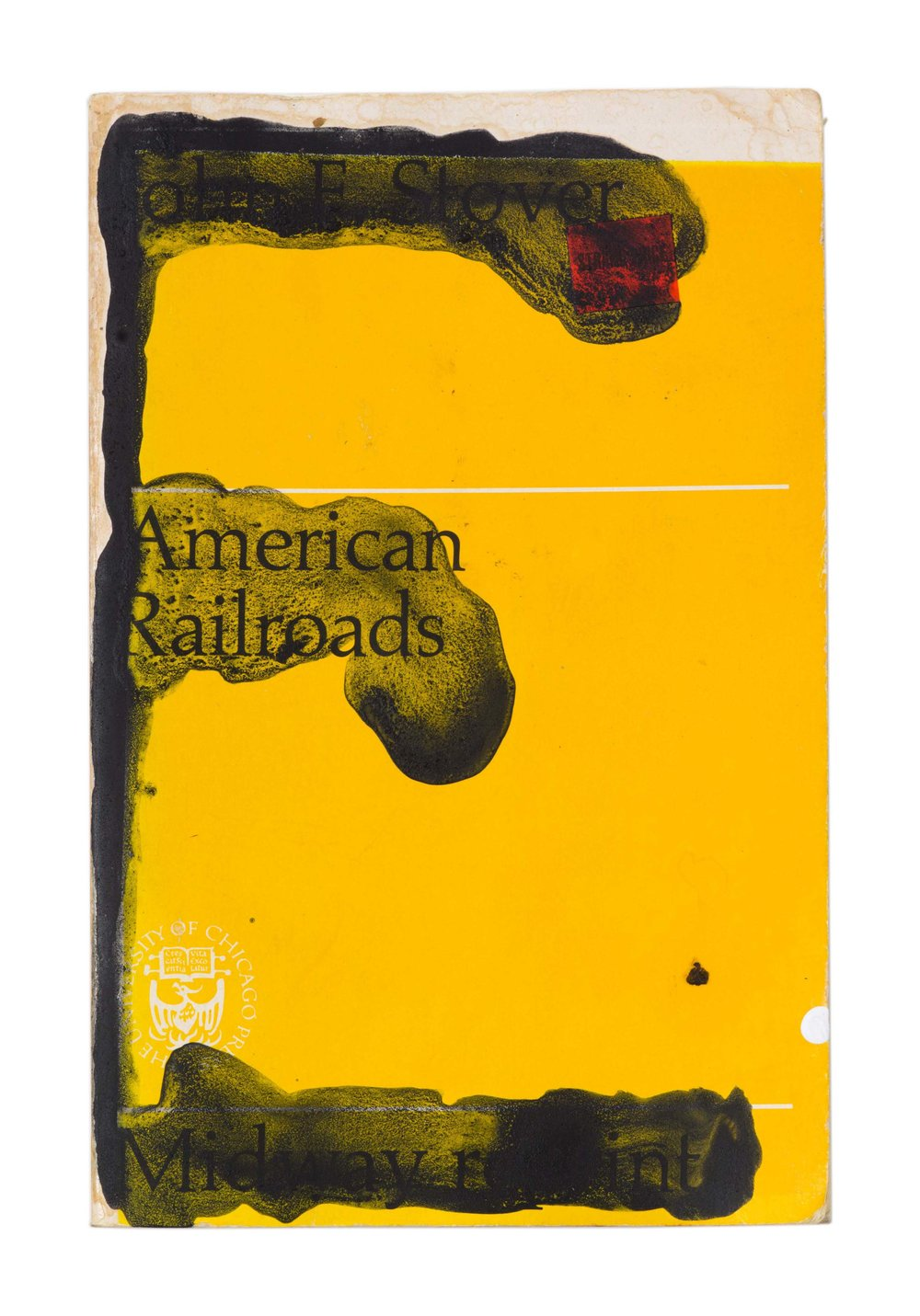 Drew Beattie and Ben Shepard  American Railroads   acrylic on used book 2016 8 ½ x 5 ½ inches