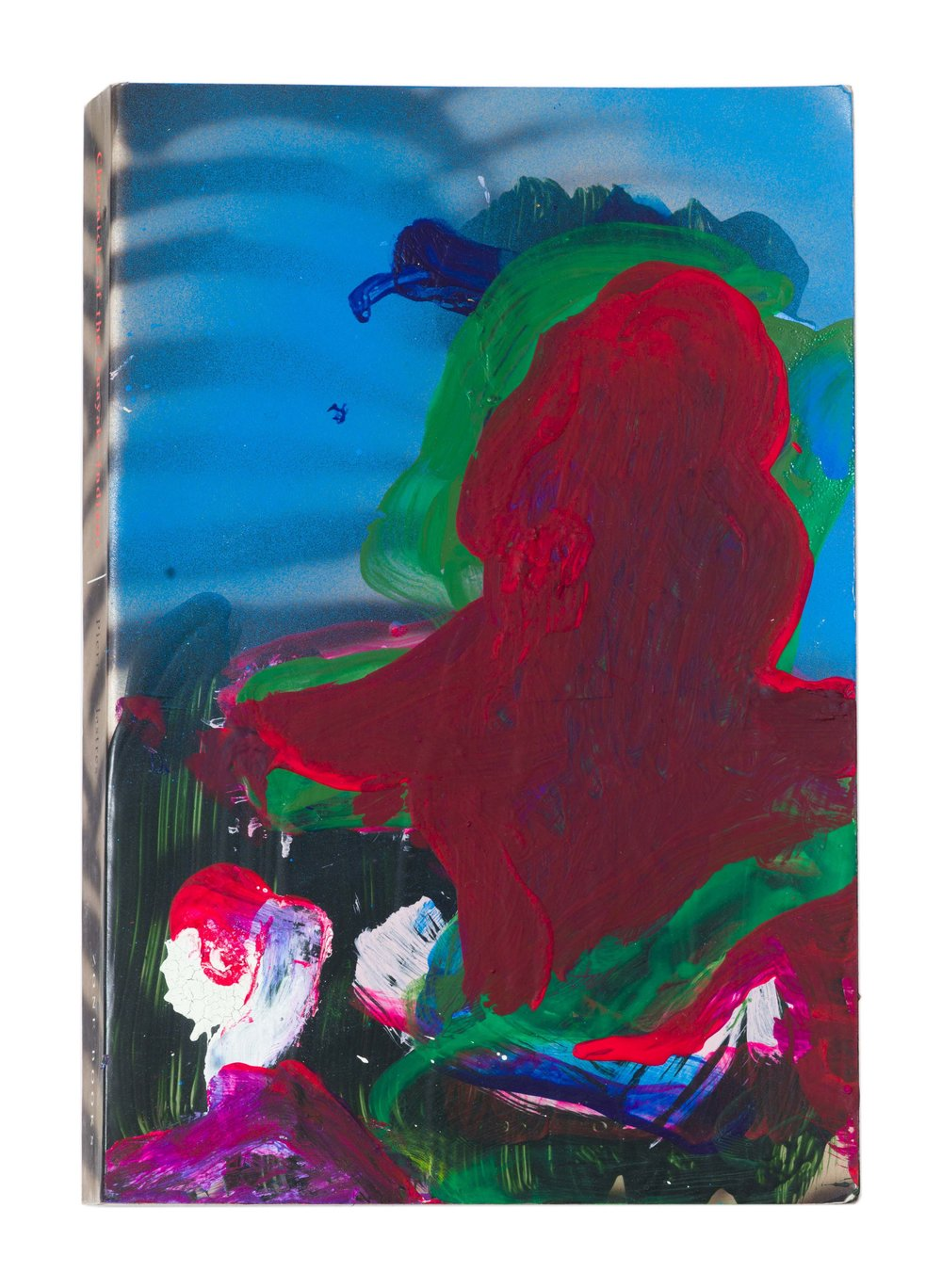 Drew Beattie and Ben Shepard  Chronicle of the Guayaki Indians  acrylic and spray paint on used book 2016 9 x 6 inches