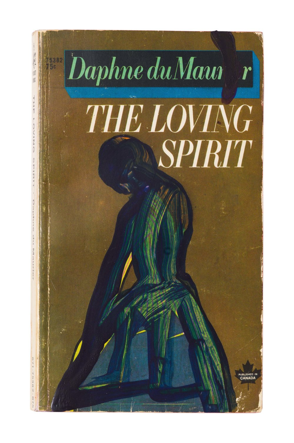 Drew Beattie and Ben Shepard  The Loving Spirit  acrylic on used book 2016 7 x 4 ¼ inches