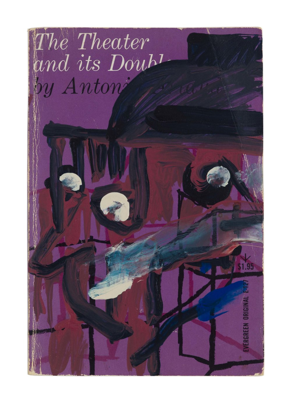 Drew Beattie and Ben Shepard  The Theater and Its Double  acrylic on used book 2016 8 x 5 ½ inches