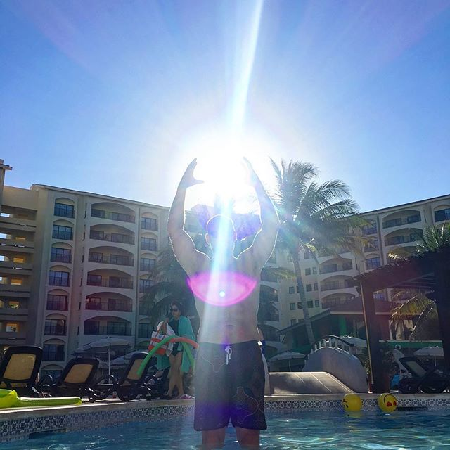 I am a Golden God! @tfrucho 💎💎💎💎💎 We felt a hint of magic around us yesterday. Hoping we will bring a bit of it back today. Drinking in the last bits of sunshine and the sea...pondering deep questions...like should I have one more Margy?! 🍹🍹🍹🍹 #magic #goldengod #orb #purpleeye #eye #universe ☀️☀️☀️☀️ 🌅🌅🌅🌅 💎💎💎💎 - - - #love #happiness #iloveyou #mexico #mentalhealth #yogamom #yogafam #godlight #magical #vaca #familyvaca #yogalove #yogalifestyle #yogalife #yogalover #momlife #mancrusheveryday