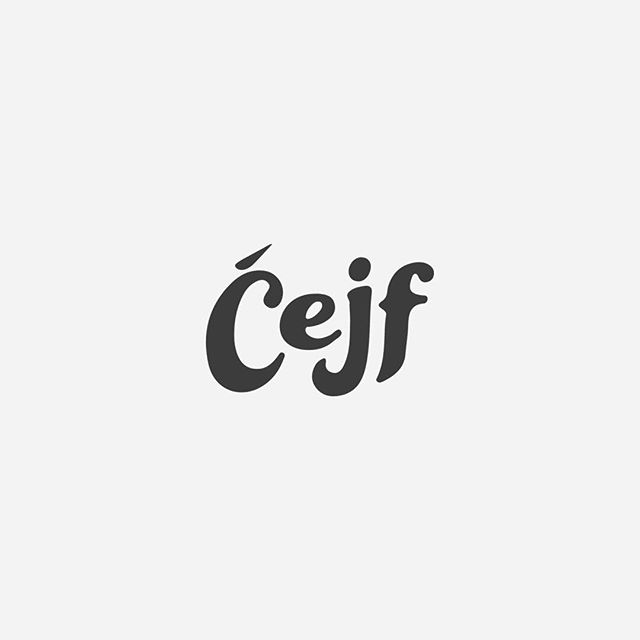 Bold, warm, welcoming and authentic. Those are the traits @cejf.travel and @cejf.bosnian.deli have in their personality. From my understanding, in Bosnian, Cejf means to gather and socialize for fun and leisure. Finalizing on the typography for the logo to bring out this exact feeling has been so much fun!