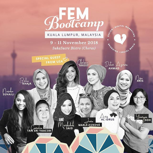 Hello from Kuala Lumpur! FEM VIP Night is happening tonight, gals - it's so surreal and I have no words. Just feeling excited, and touched by all the support and love shown for @fem.bootcamp all these while. I'll definitely share photos of our event when I'm settled back at work in Singapore - but meanwhile please follow @fem.bootcamp for updates on what's happening right here at Kuala Lumpur for the next 3 days! Power hugs! xx, Nisa ❤️