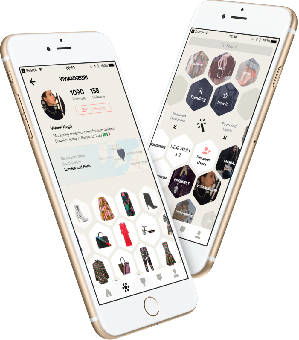 London shopping app - social fashion KNOMI