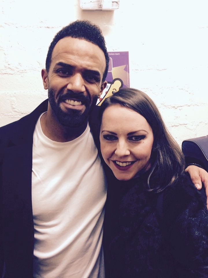 With Craig David after BBC Children In Need