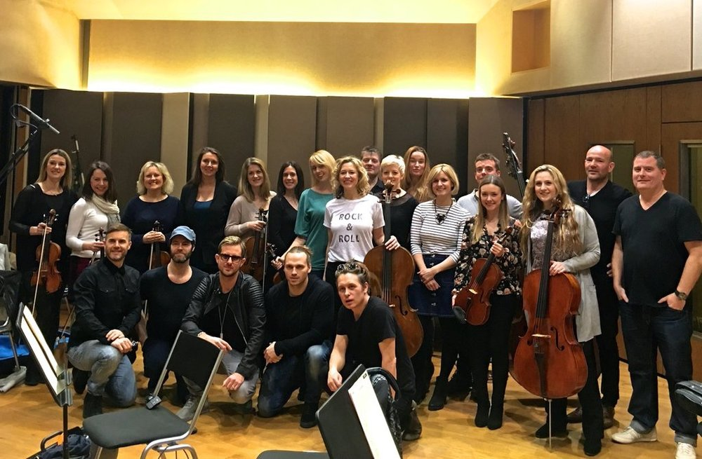 Anna Recording with Take That and Sigma