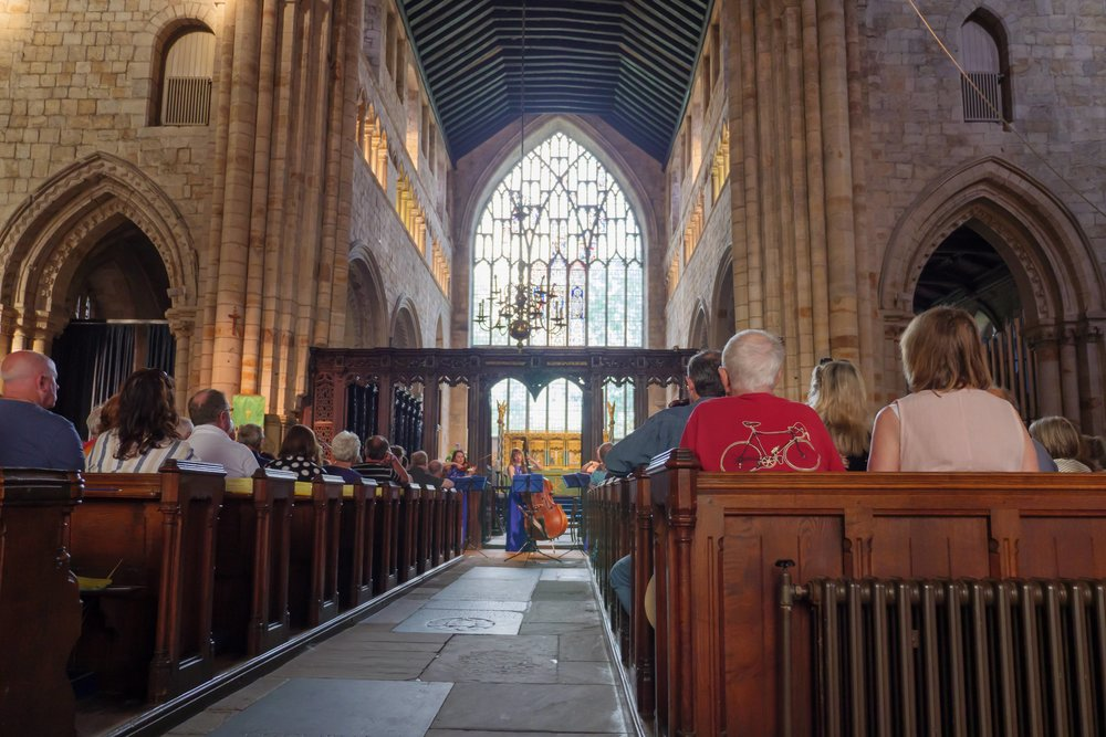 Cartmel Priory during our concert