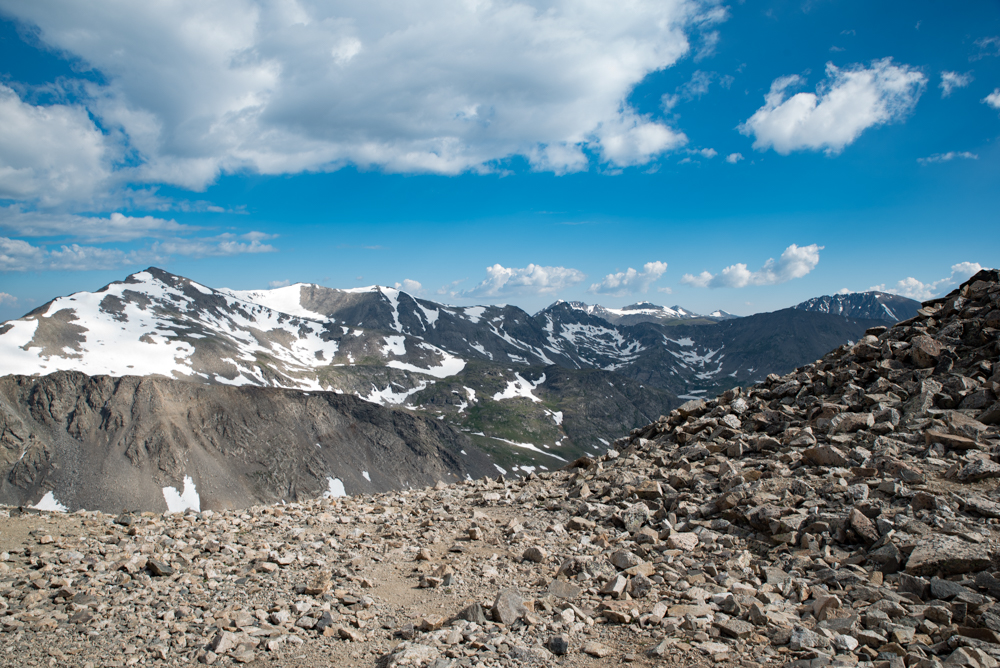 The saddle where my hope for conquering any 14er was fizzling fast.