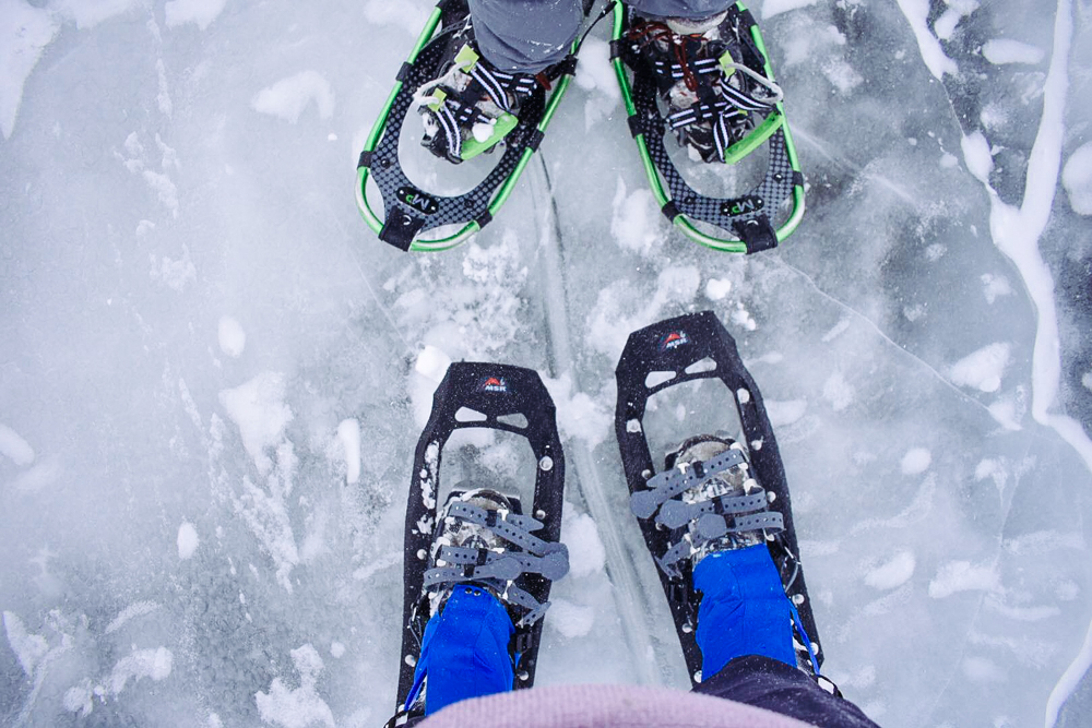 Obligatory feet on frozen lake photo.Photo Credit: Natalie Magee