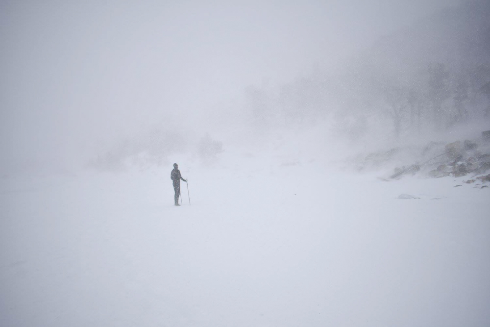 This was my most favorite Colorado thing I saw. You can't tell from this picture but this guy was on the frozen lake just running around it, doing laps like he was on a high school track. at 11,500 feet in a full out blizzard.No big deal.