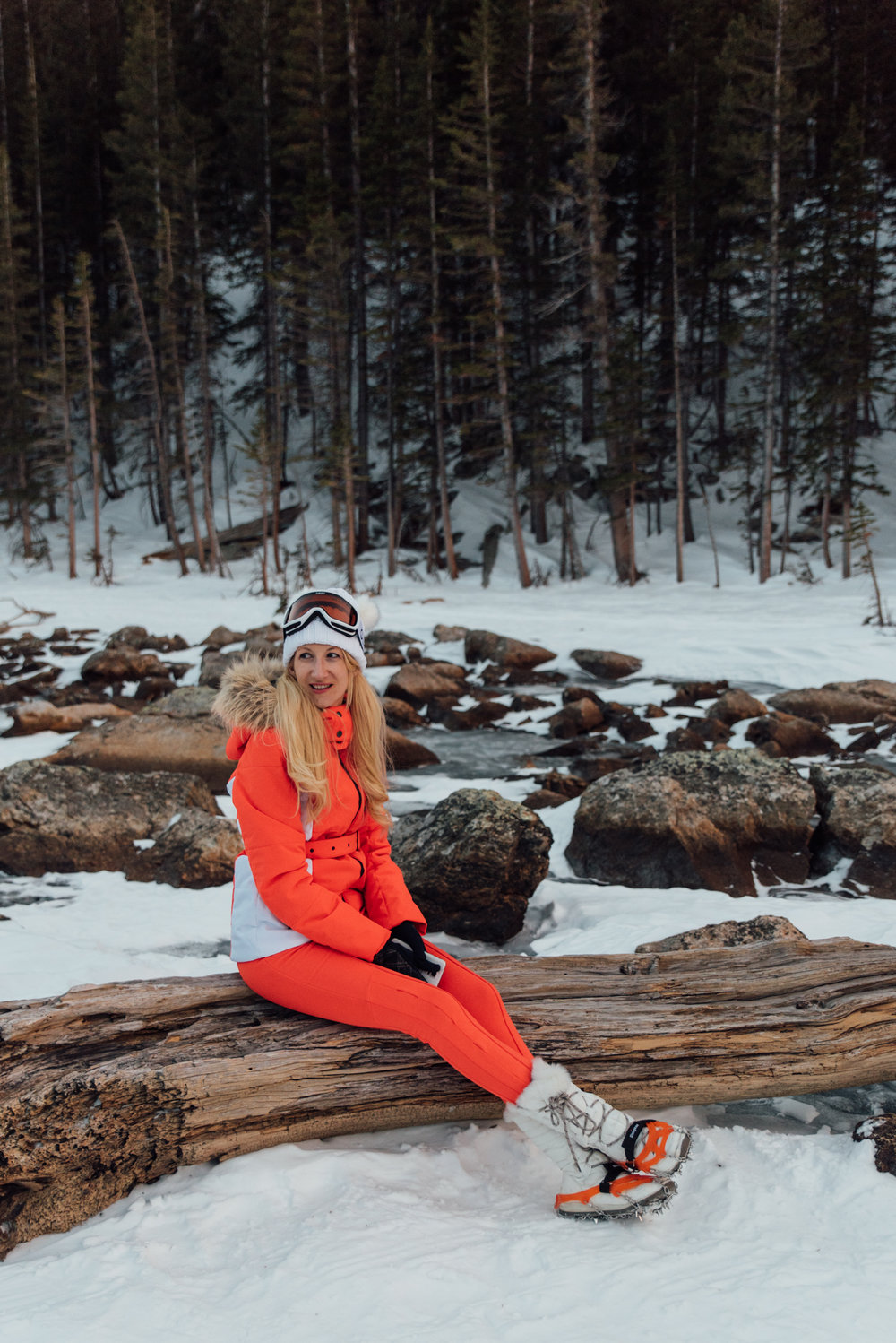 Linda the Nordic Ice Princess, just hanging out taking in the views.