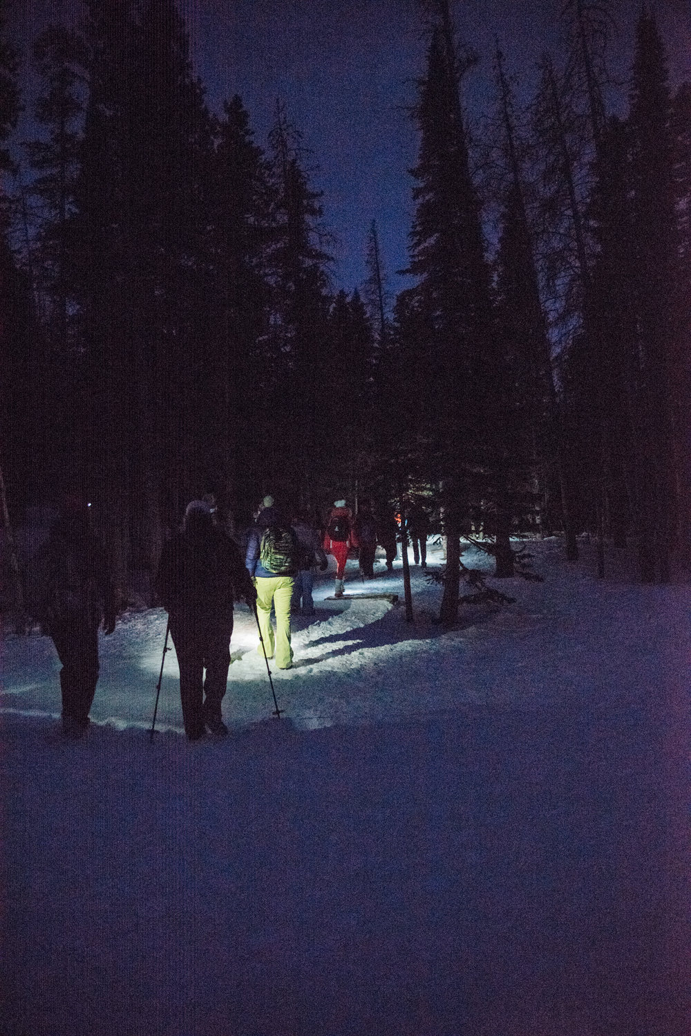 In the mountains, under the stars with amazing women. Nothing better.