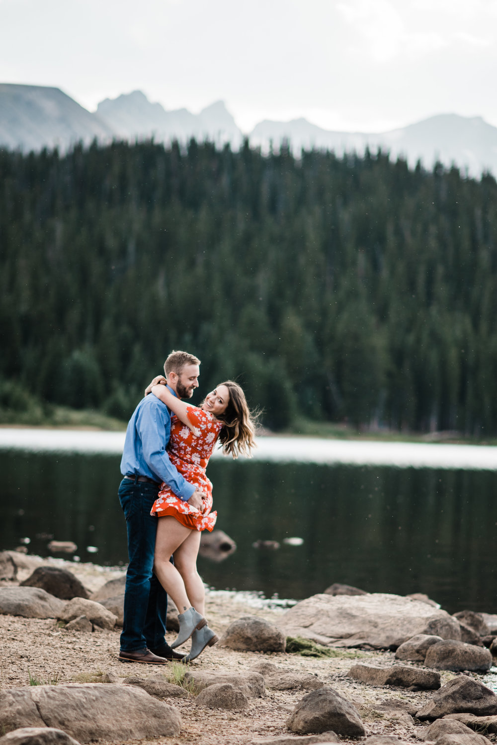 Indian Peaks-Brainard Lake-Colorado Engagement romatic