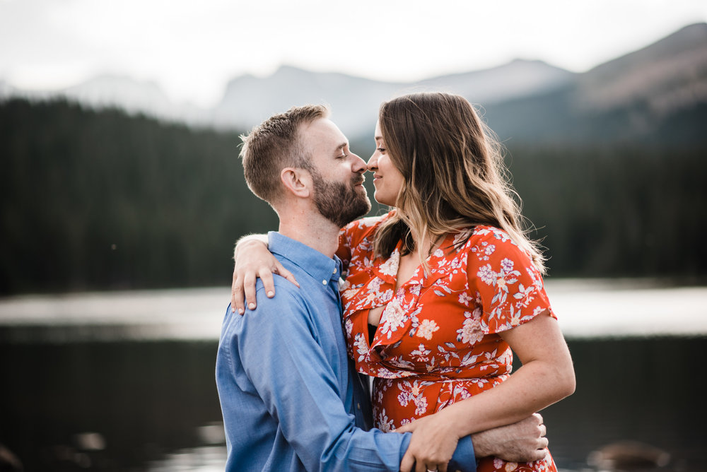 Indian Peaks-Brainard Lake-Colorado Engagement kissing