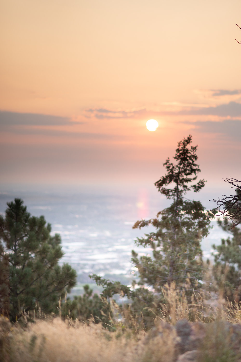 Boulder Colorado Elopement Sunrise