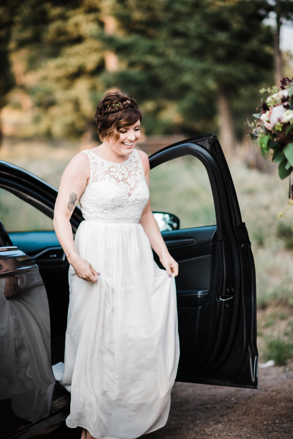 Boulder Colorado Elopement Bride