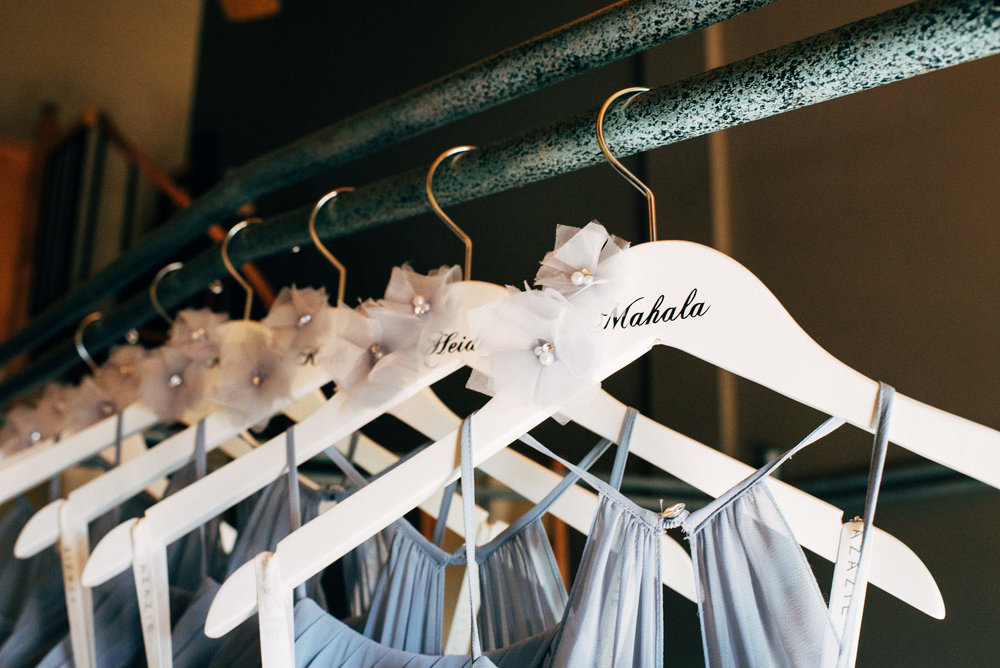 Bridesmaid dresses at Keystone, Colorado mountain wedding