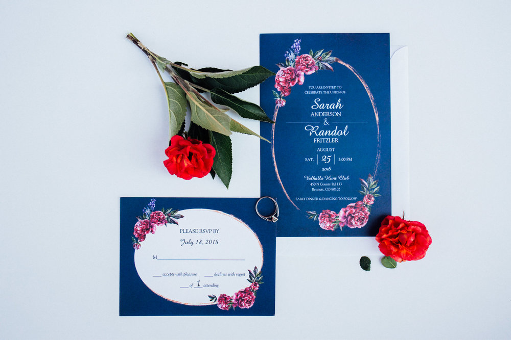 Beautiful invitations from a gorgeous Colorado wedding photographer