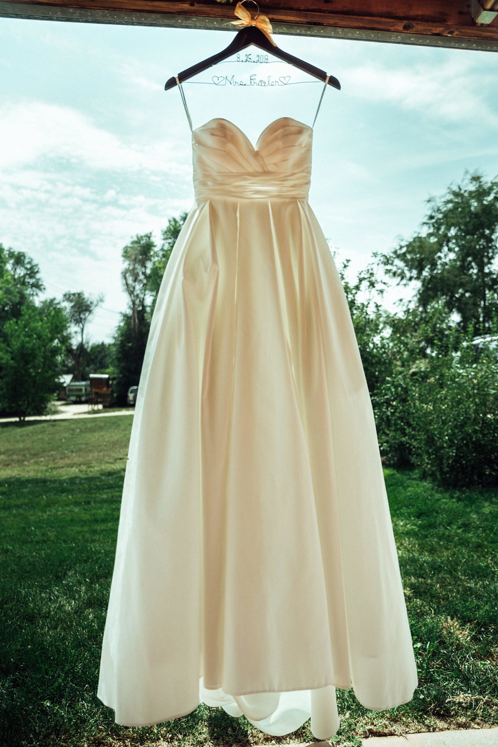 Wedding dress from a gorgeous Colorado wedding photographer