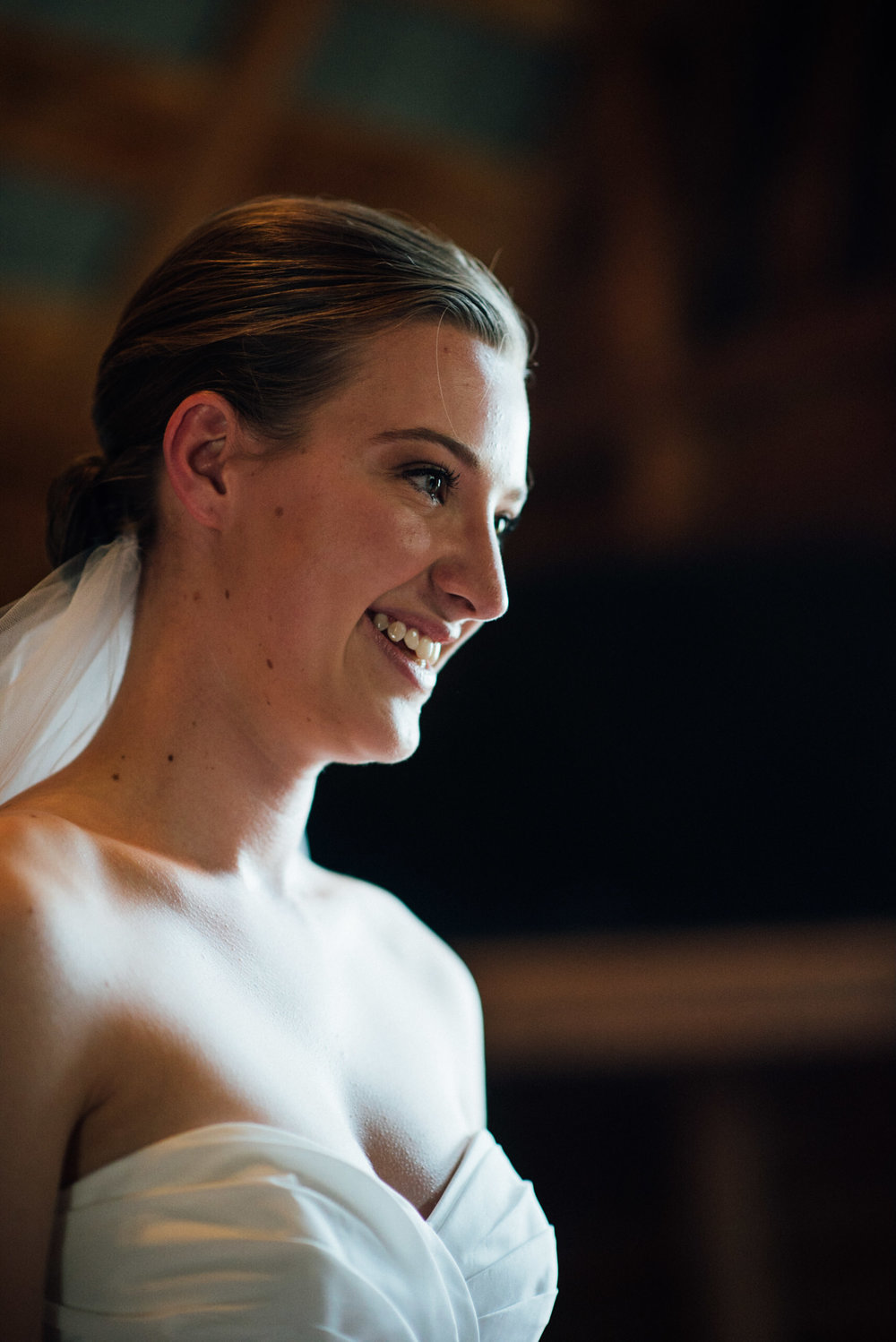 Bride at from a gorgeous Colorado wedding photographer