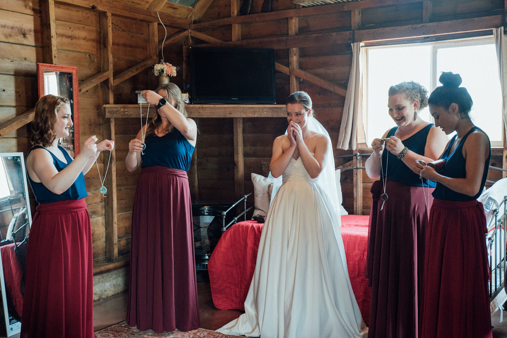 Bride and Bridesmaids at gorgeous Colorado wedding photographer