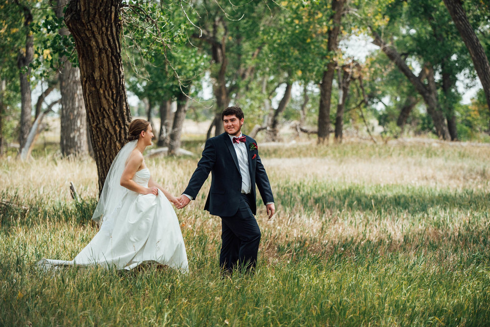 Bride and groom at beautiful Colorado wedding photographer