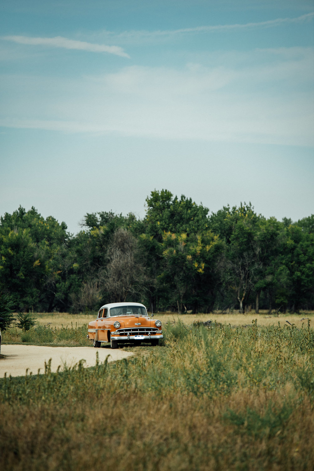 Beautiful Chevy 54 Bel Air at Colorado wedding photographer