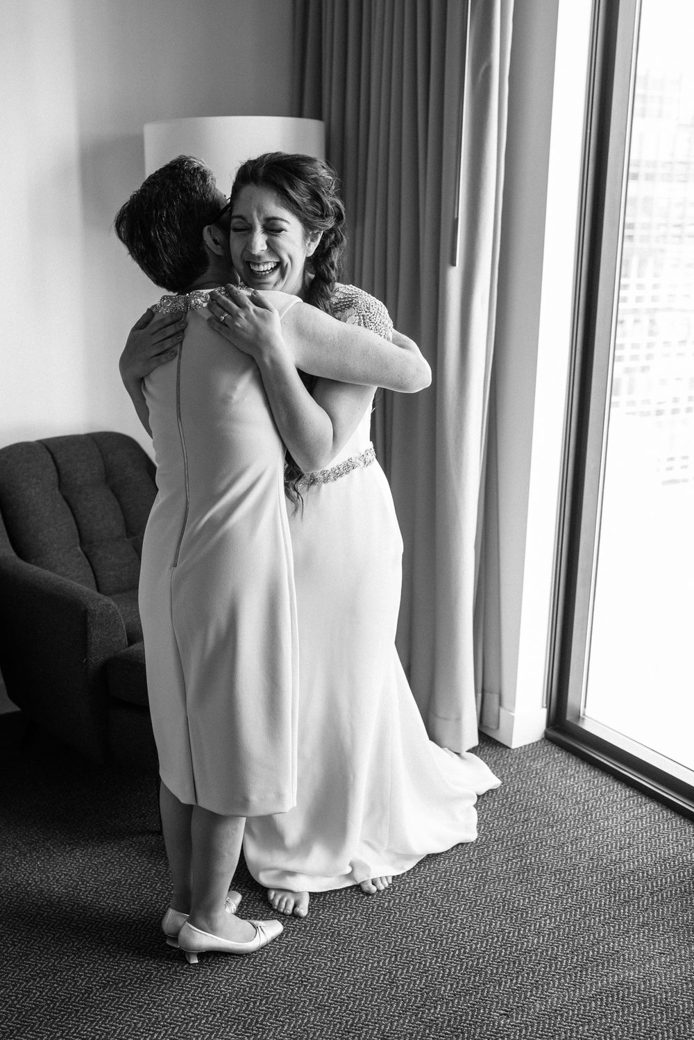 Colorado Denver Downtown Urban Wedding Colorado Wedding Photographer Mom and Bride