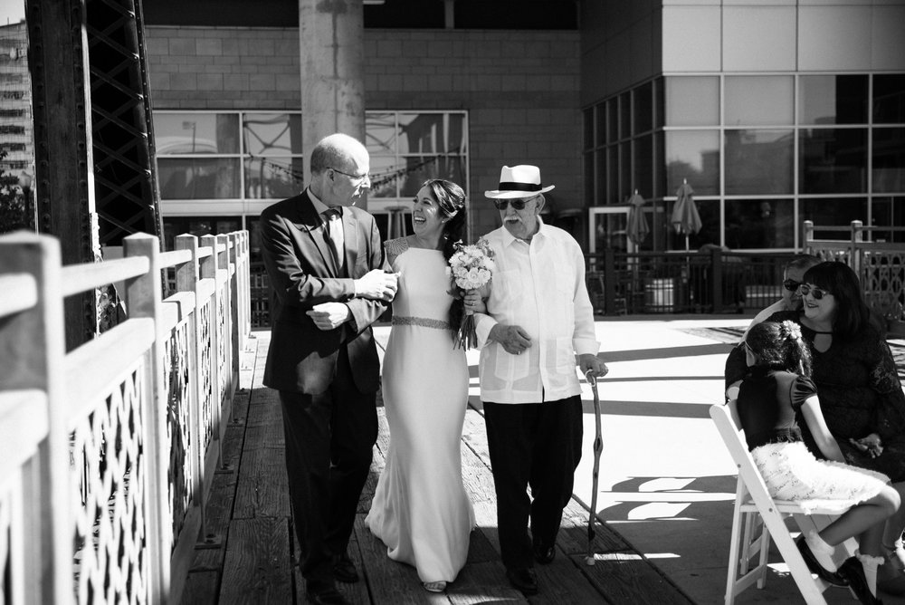 Colorado Denver Downtown Urban Wedding Colorado Wedding Photographer ceremony at Coohills