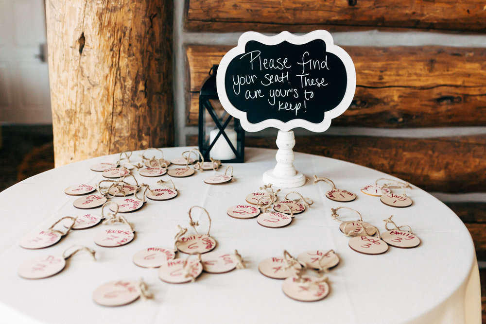 Adventure wedding table numbers. Colorado wedding photographer.