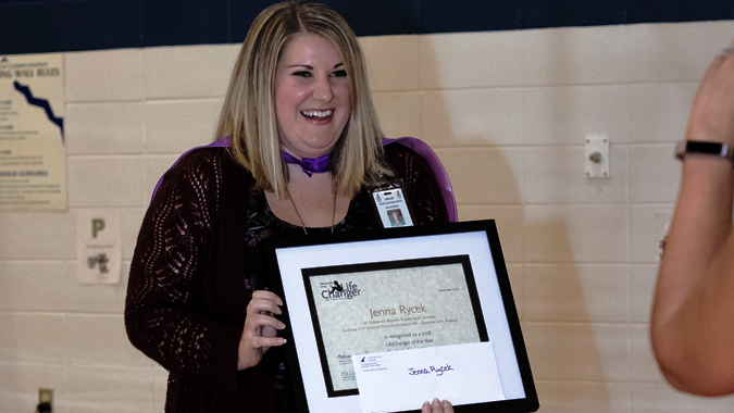Meet Our 2018-19 Spotlight Award Winner   Jenna Rycek School Pscyhologist Garden City, KS   Congratulate Jenna