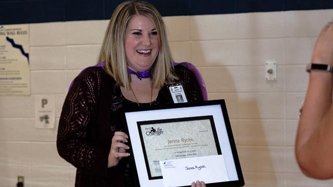 Meet Our 2018-19 Spotlight Award Winner   Jenna Rycek School Pscyhologist Garden City, KS   Congratulate Jenna