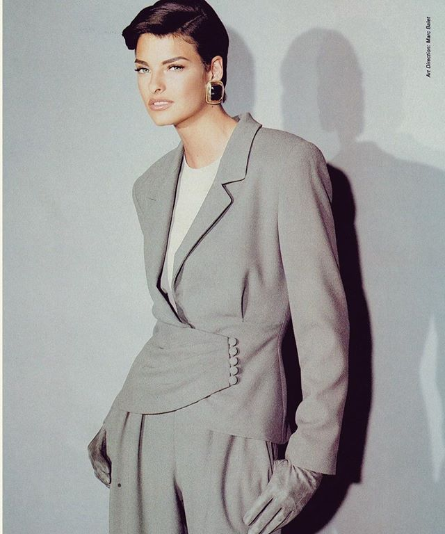 Power Suit of the Day: Linda Evangelista in Anne Klein