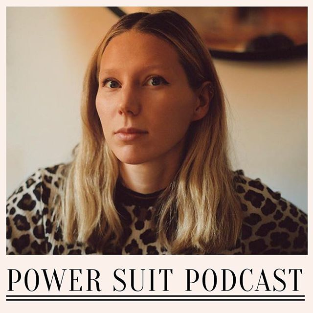 "Today marks exactly a year since Power Suit Podcast began! 🎉 To celebrate, here is the brand new episode with London-based creator @frances_glory_costelloe - she sells sea shells... in Liberty 🐚 Frances built up her name in the fashion world as a blogger then at @bella_freud. Listen to the episode today! Search ""power suit podcast"" wherever you get your podcasts 🎙️ #podcast #1stbirthday #shoulderpads #powersuits #powersuitsocial #francescostelloe"
