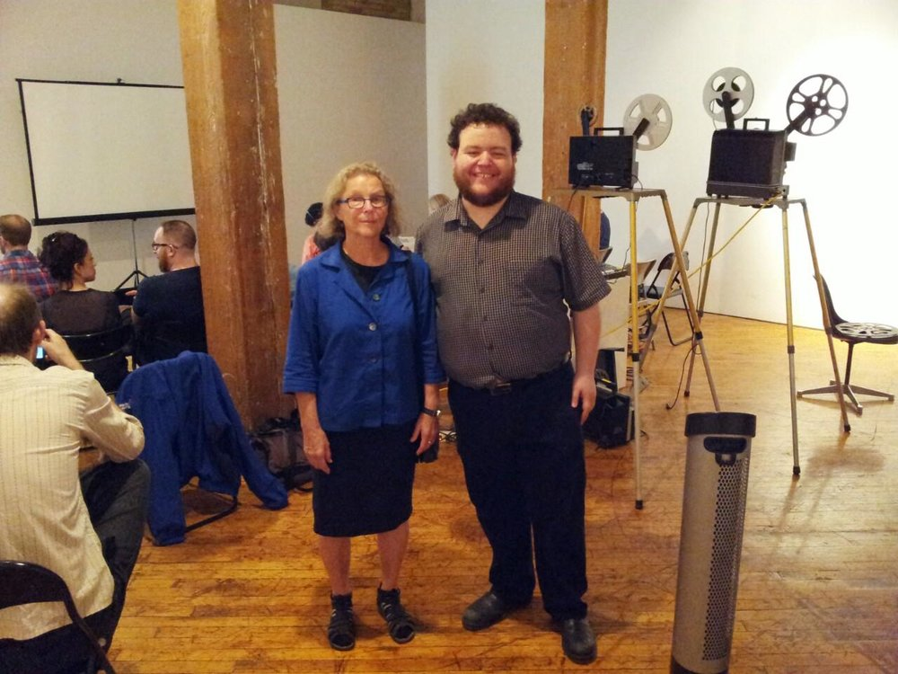 With Barbara Sternberg at  8X8: Barbara Sternberg in Person , YYZ Artists' Outlet, July 9, 2015. Photo by John Porter.