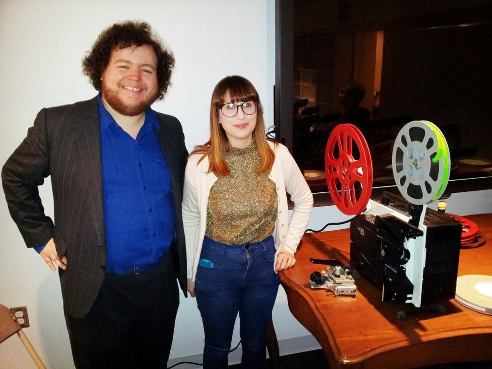 With Katie Russell at  Maya Deren: The Mother of Us All, 1943-1958 , the Modern Literature and Culture Research Centre, Ryerson University, April 2, 2014. Photo by John Porter.
