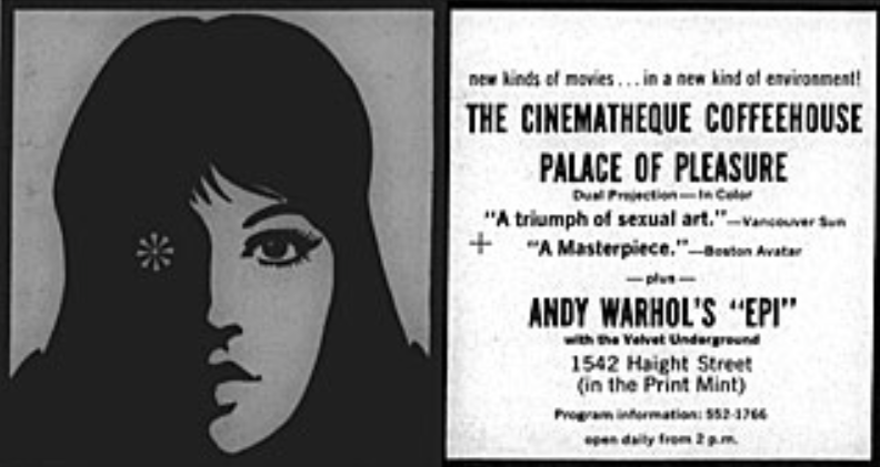 Advertisement for  Palace of Pleasure  in San Francisco, 1967.