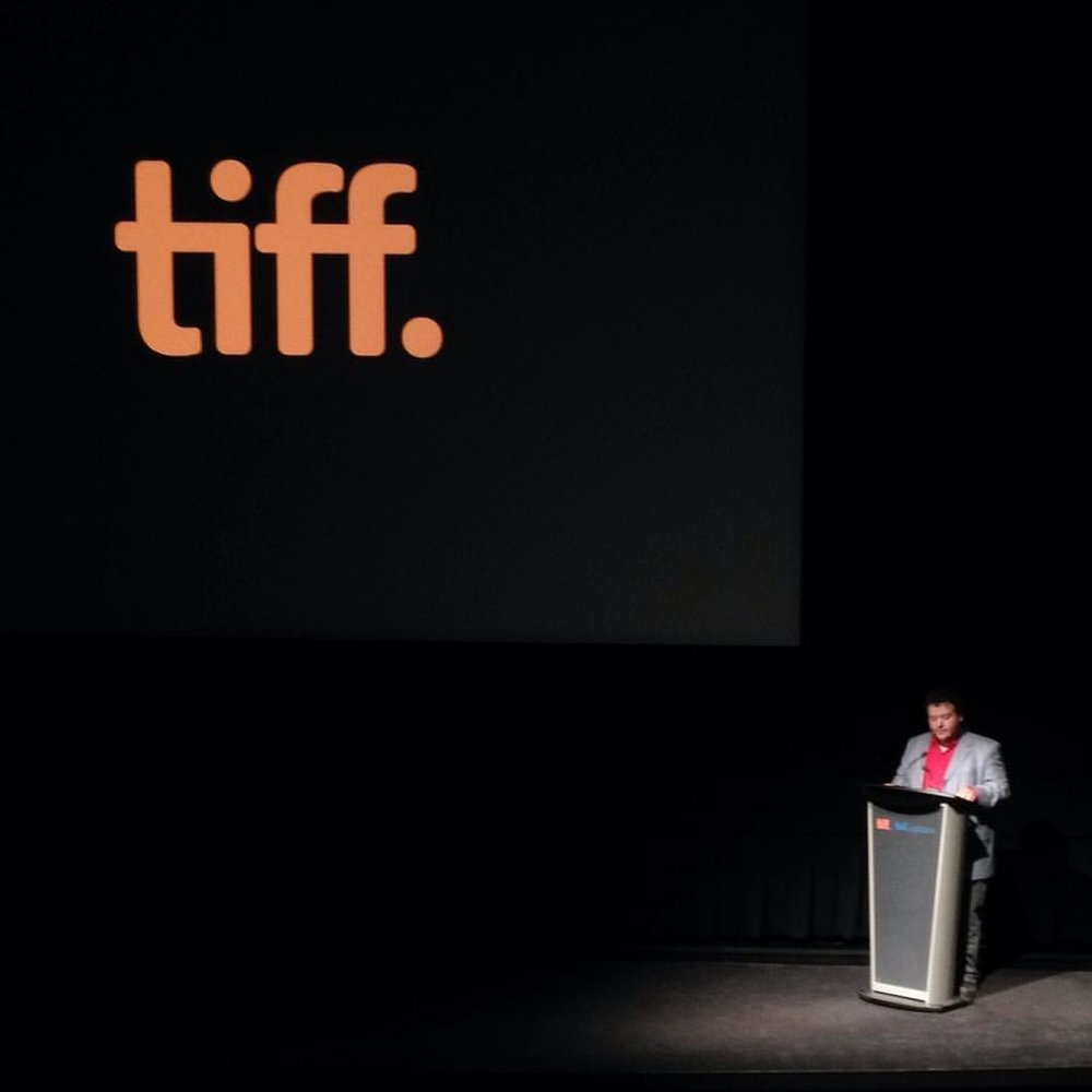 At the TIFF Bell Lightbox for the book launch for  Hamilton Babylon: A History of the McMaster Film Board , May 17, 2016. Photo by Eva Kolcze.
