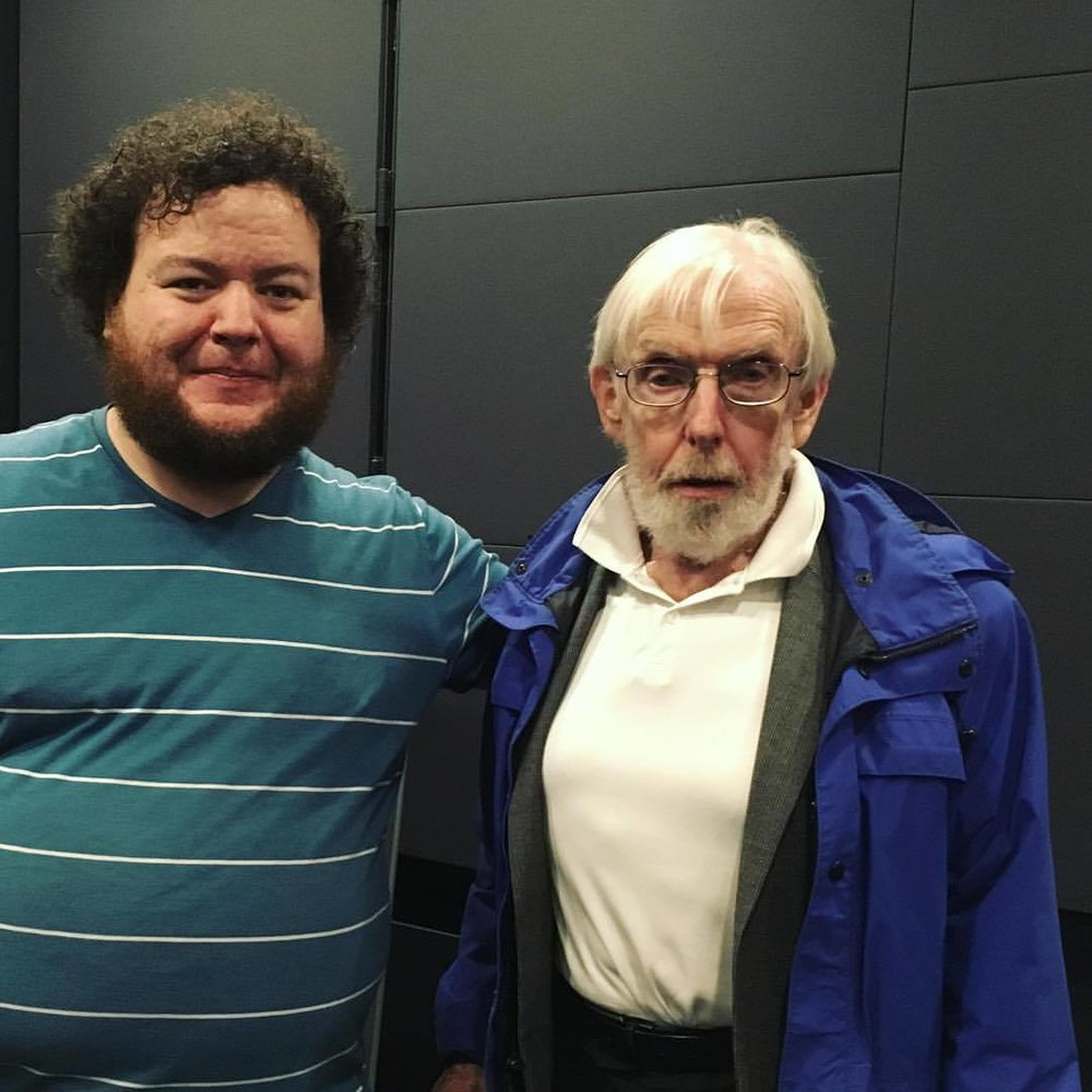 Robert Fothergill (right) with Stephen Broomer (left) after the screening. Photo by Eva Kolcze.