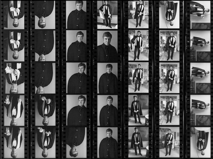 Contact sheet of John Hofsess, photographs by Arnaud Maggs. 1976.