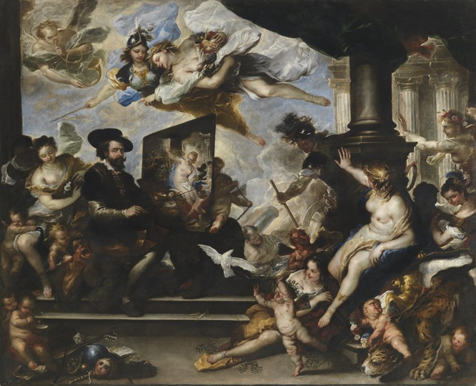 Rubens painting the Allegory of Peace , Luca Giordano c. 1660.
