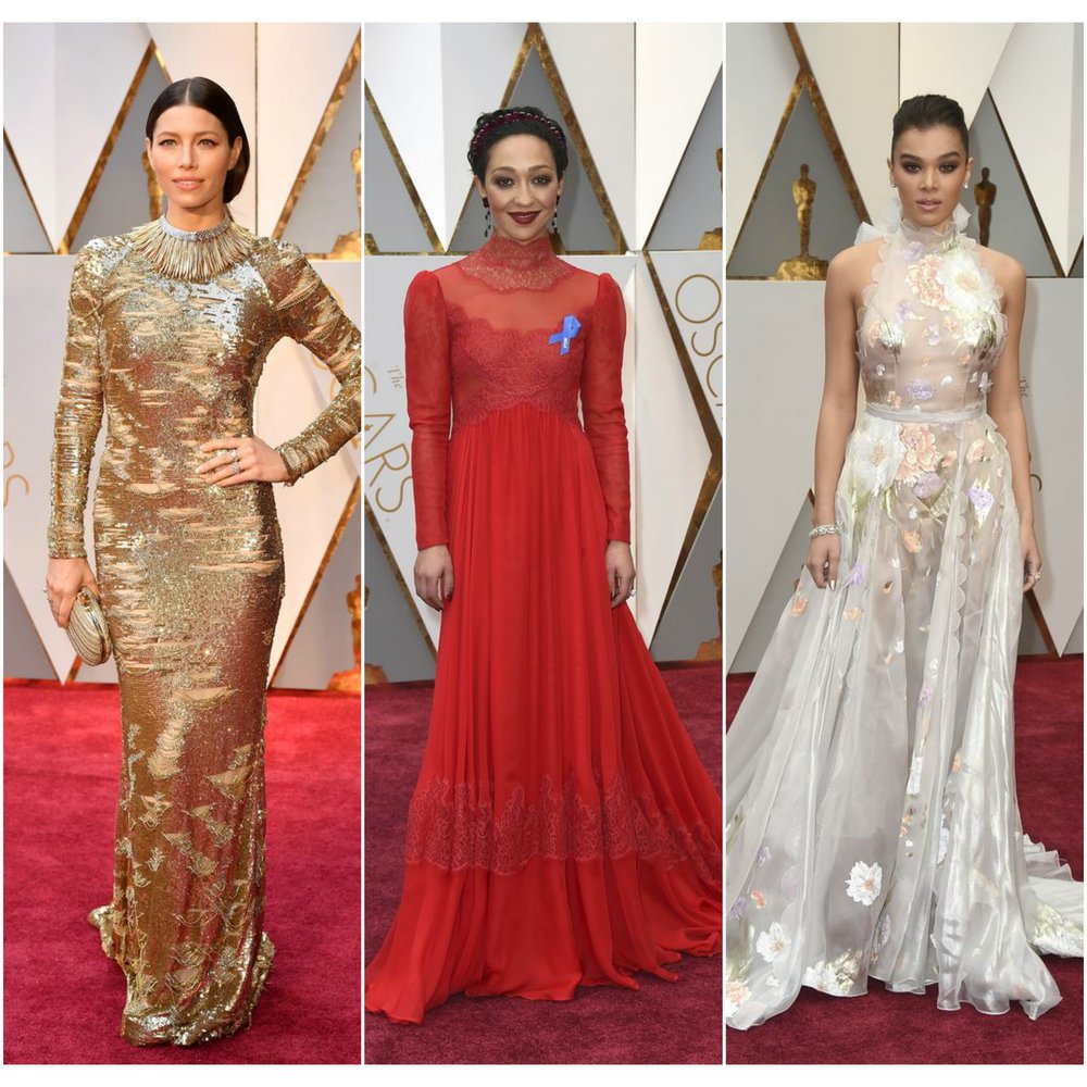 Left to Right: Jessica Biel, Ruth Negga, Hailee Steinfeld