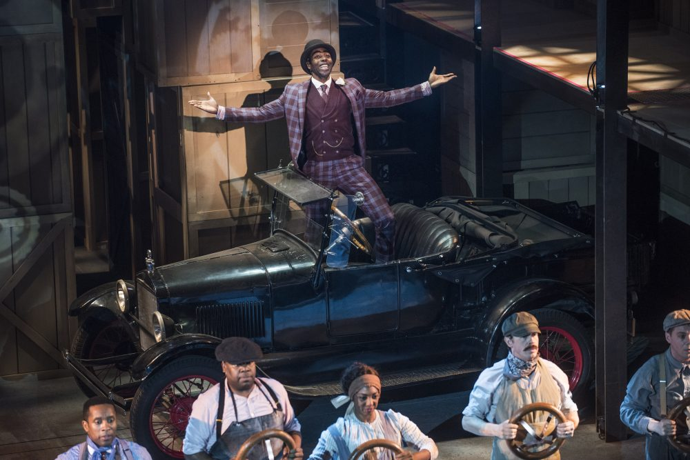 Clifton Duncan with the Model T. – Courtesy photo by Nick Agro / Pasadena Playhouse
