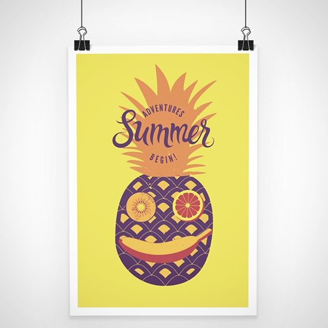 ☀️☀️☀️☀️☀️☀️☀️☀️☀️☀️☀️☀️☀️☀️☀️☀️ . . . . . #printing #printondemand #poster #posterart #pineapple #summer #kitecreate #illustration #customprinting #itssohot #wearemelting