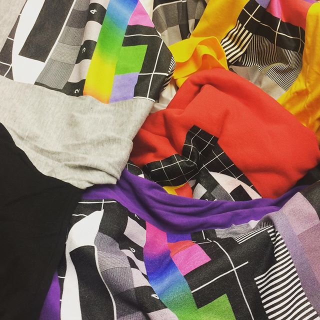 Diggin' through new product samples 🌈 . . . . . #printondemand #tshirtdesign #tshirtprinting #shopify #style #creative #colour #startuplife #business