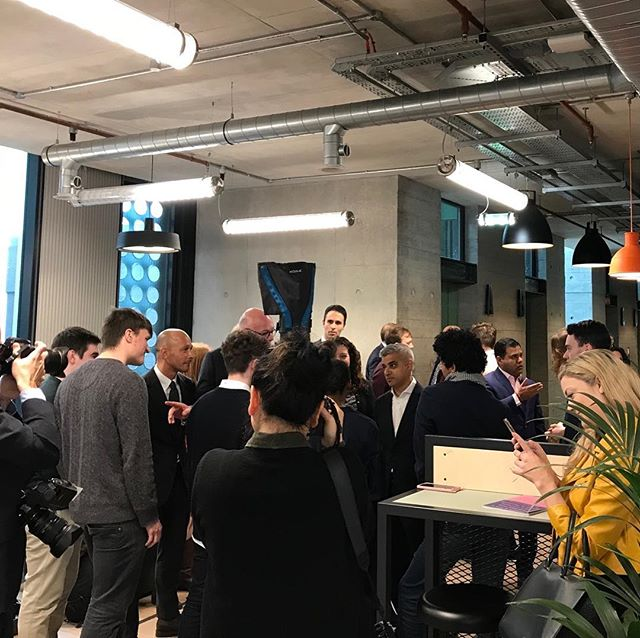 Came in to find @sadiq in the house this morning! Unfortunately we couldn't get near enough to ask if he wanted any merch... 😝 #mayoroflondon #startuplife