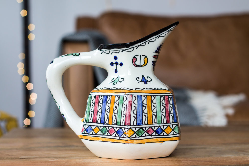I bought this pitcher for $6 at a market in Fez, Morocco