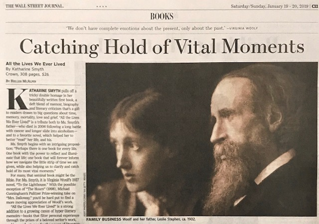 Heller McAlpin's review of  All the Lives We Ever Lived  in  The   Wall Street Journal